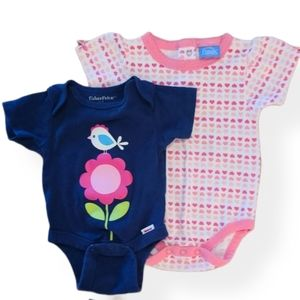 Set of two bodysuits/onesies Precious Moments & FP